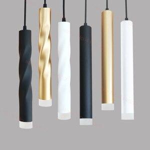 Image 1 - LED תליון מנורת dimmable תליית אורות מטבח אי אוכל חדר חנות בר דלפק קישוט צילינדר צינור מטבח אורות