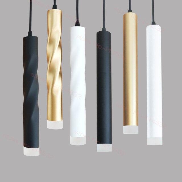 LED תליון מנורת dimmable תליית אורות מטבח אי אוכל חדר חנות בר דלפק קישוט צילינדר צינור מטבח אורות