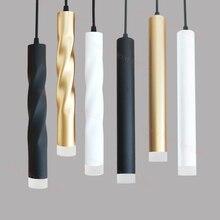 Mặt Dây Đèn LED thay đổi độ sáng treo đèn Hòn Đảo Bếp Phòng Ăn Cửa Hàng Bar Truy Cập Trang Trí Xi Lanh Ống Nhà Bếp Đèn