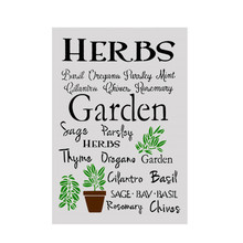 A4 Size DIY Craft Herb Garden Design Stencil Template For Wall Painting Scrapbooking Stamping Album Decorative Embossing Cards
