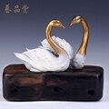 Роскошный свадебный подарок свадебный подарок белый лебедь лебедь сказал пару медных украшений