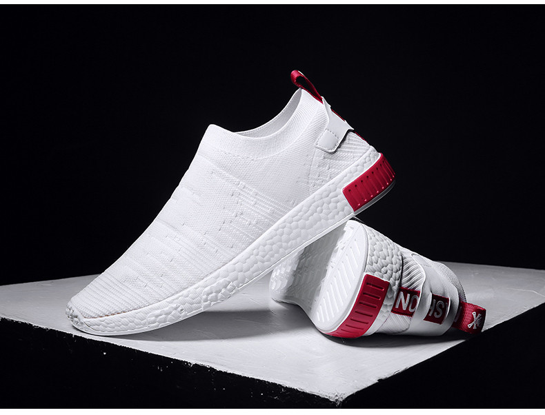 HTB1OthMzXGWBuNjy0Fbq6z4sXXal Thin Shoes For Summer White Shoes Men Sneakers Teen Shoes Without Lace Trend 2019 New Feel Socks Shoes tenis masculino chaussure