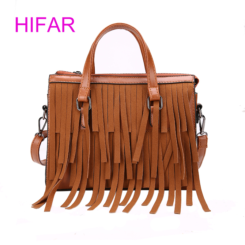 HIFAR 2018 New Fashion Women Shoulder Bags High Quality Female Bag Large Capacity Pu Leather Women Handbags Big Tassel Ladies Ba