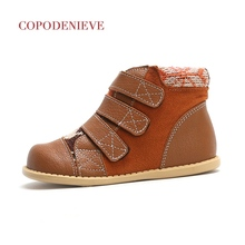 COPODENIEVE Winter Leather Snow Boots