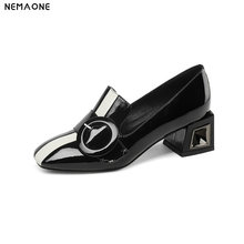 NEMAONE shoes woman high heels pumps genuine leather new spring summer slip on classics shoes woman dress party pumps women