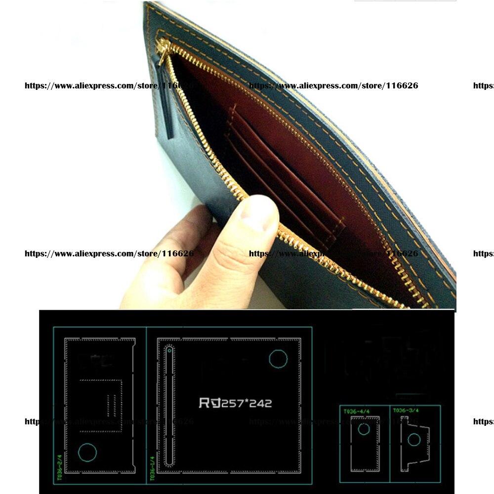 DIY レザークラフト女性ファスナー内ポケットシンプルなバッグダイカットナイフ金型テンプレートハンドパンチツール 4 ピース/セット  グループ上の ホーム&ガーデン からの パンチ の中 1