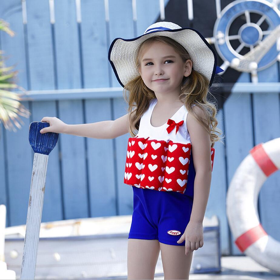 hot sale 2017 new children kid girls swimwear Buoyant swimsuit baby girl bodysuit floating swimming pool swimwear bikini 321