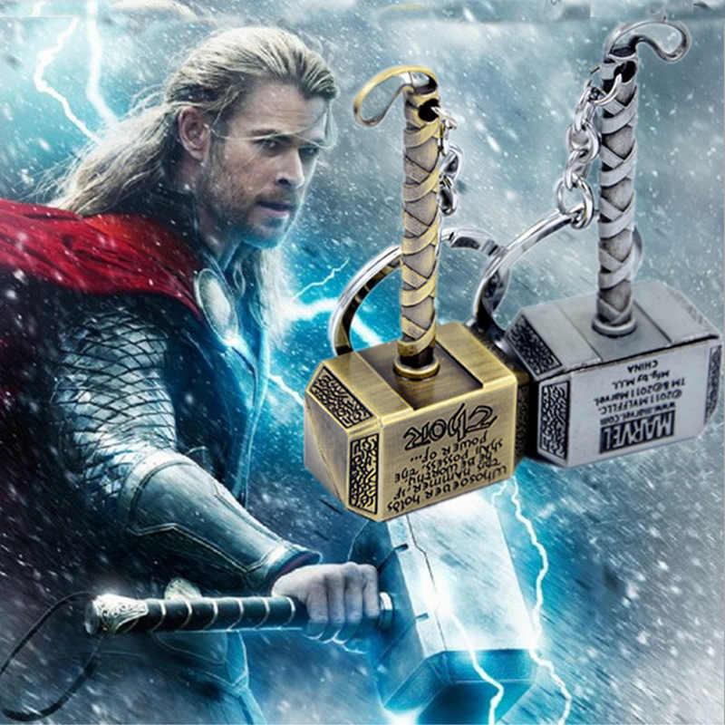 Marvel The Avengers Thor của Hammer Mjolnir Keychain New Thiếc Fp-Keyring Đồ Chơi Thor Chain Key Ring Key Người Đàn Ông Trang Sức Người Hâm Mộ Phụ Kiện