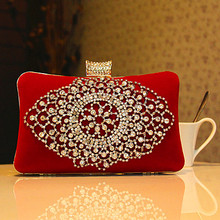 2016 women's diamond handbag bridesmaid one shoulder handbag evening clutch marry bridal evening bag