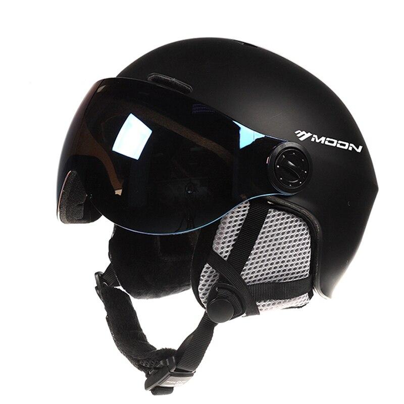 ムーンゴーグルスキーヘルメット一体成形 Pc + EPS カラフルなスキーヘルメットアウトドアスポーツスキースノーボードスケートボードヘルメット  グループ上の スポーツ & エンターテイメント からの スキー ヘルメット の中 2