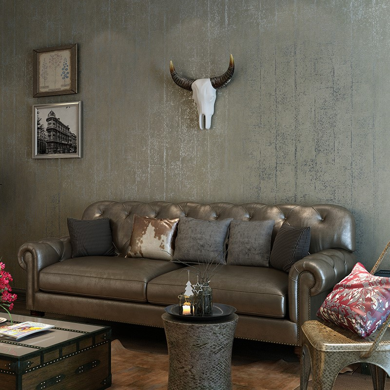 3D Wallpaper Modern Cement Grey Wall Papers For Living Room Study Home Decor Non-Woven Vintage Wall Covering Papel De Parede 3 D