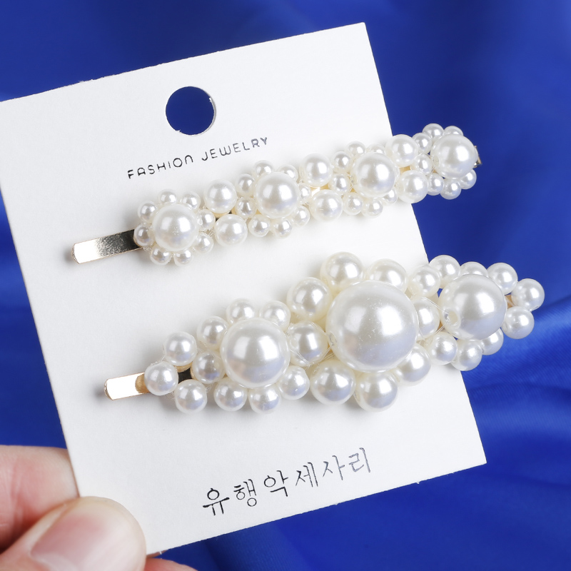Fashion 8 Styles Women ABS Pearl Imitation Beads Hair Clip Barrette Stick Hairpin Hair Styling Accessories handmade For Girls