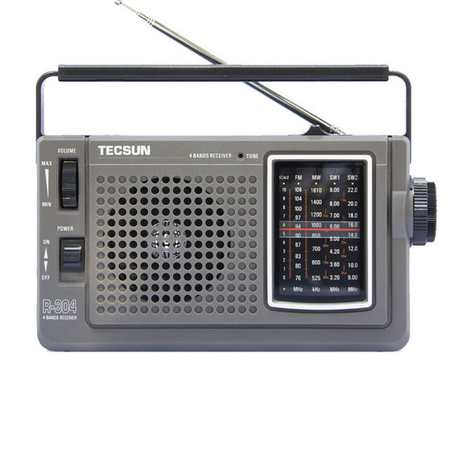 TECSUN R-304 Высокая Чувствительность Fm-радио МВТ/SW Радиоприемник С Встроенный Диктор