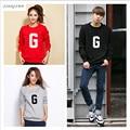 2017 plus size clothing hoodies camisolas com capuz de algodão das mulheres dos homens de impressão g preto vermelho cinza com capuz camisolas hoodies