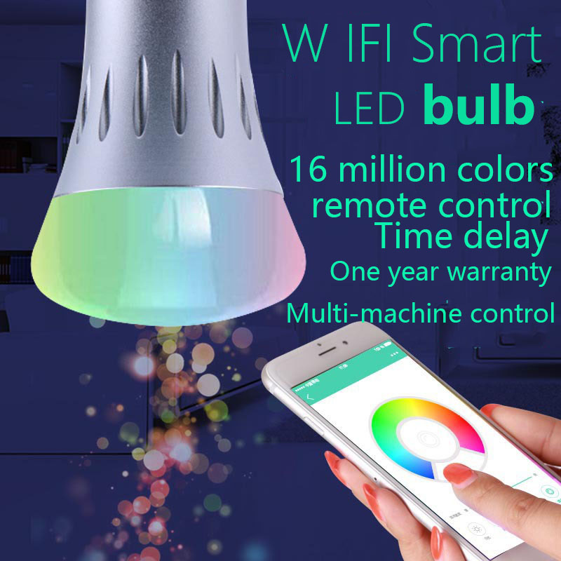 OEM remote APP remote control timing wifi smart bulb RGB 7W intelligent home bulb dimming colorChristmas light bulb wifi led bulb 7 5w rgb white dimmablelamp smart home for ios