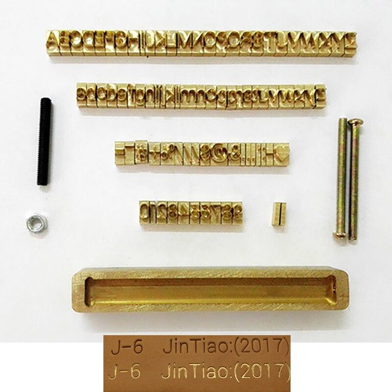 Logo personnalisé cuivre laiton timbre bois cuir papier chaud feuille estampage machine Alphabet chauffage gaufrage moule sculpture marque impression