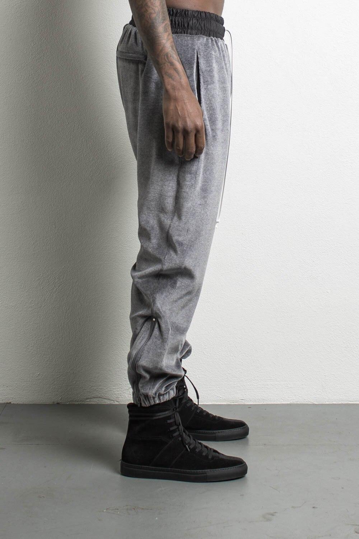 HIPFANDI Kanye West Velvet Side Zipper Pants New Hiphop Fashion Casual Beam foot Trousers Black/Gray Splice Canterer pants