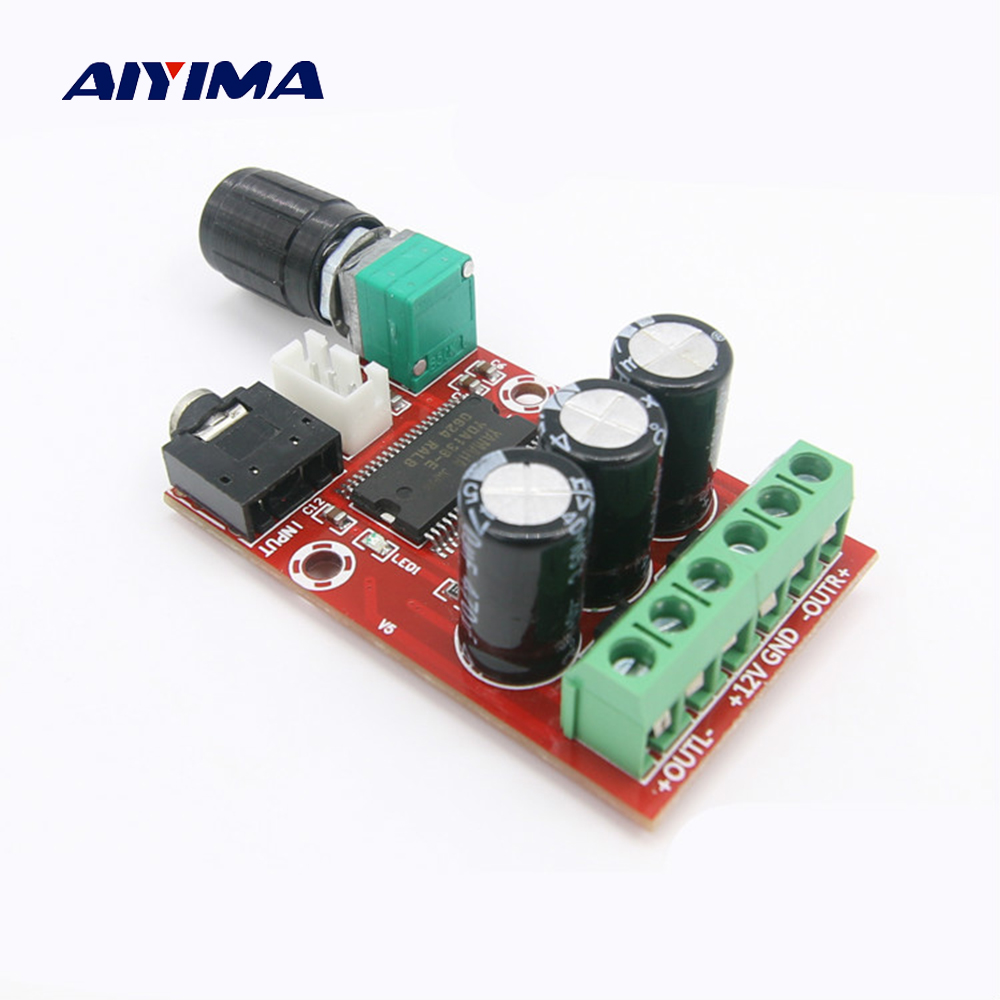 цена на Aiyima YDA138-E Digital Audio Amplifier Board 12W*2 Stereo Dual Channel Audio Amplifiers DIY Sound System Speaker Home Theater