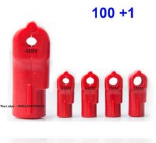 100 pcs / lot 4 5 6 7 8 mm EAS Lock for anti theft hook Security Hook STOP LOCK Magnet Lock Key + 1 piece Detacher key(China)