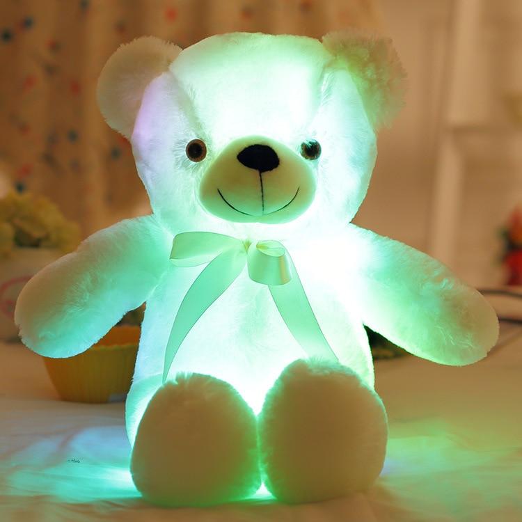 Hot 50cm Colorful Teddy Bear Peluches Kawaii Luminous Teddy Bear - Muñecas y peluches - foto 5