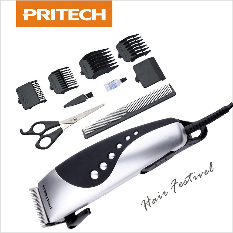 pritech professional electric hair trimmer razor men beard clipper hair cutting machine hair. Black Bedroom Furniture Sets. Home Design Ideas