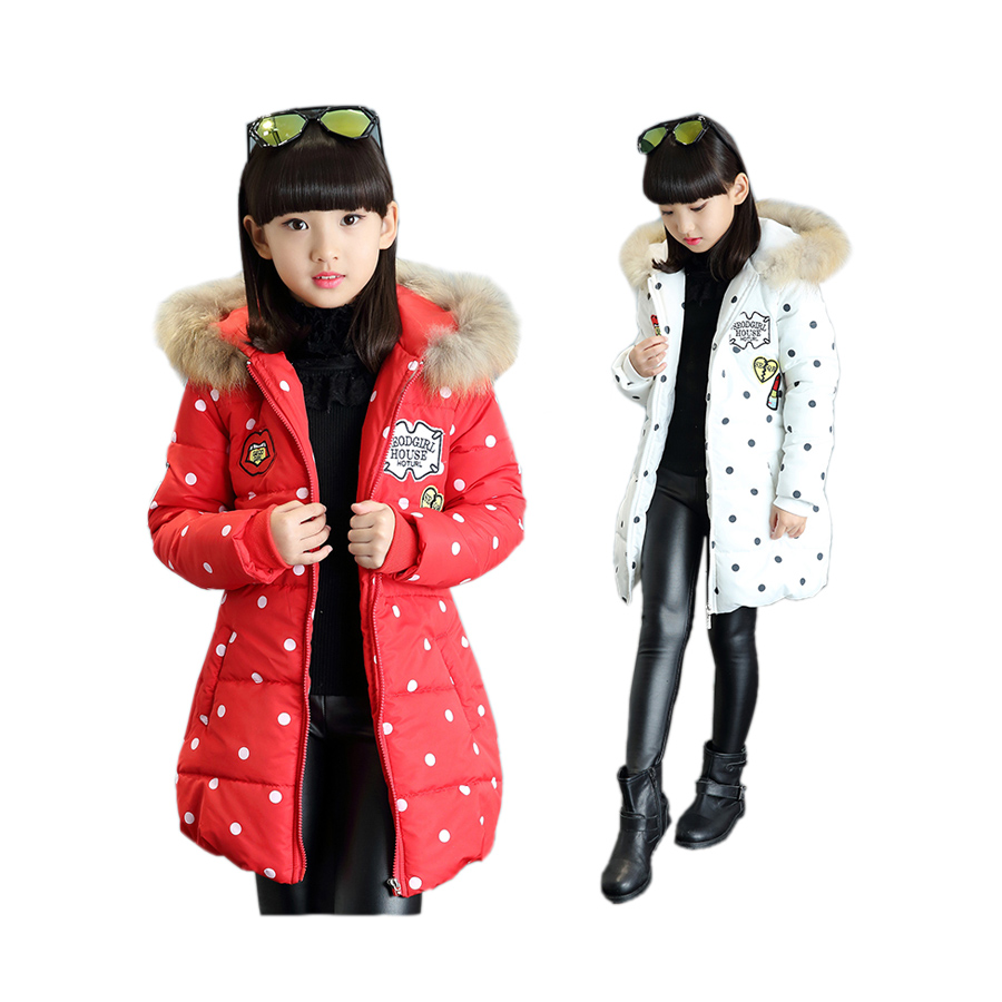 cute baby girl parkas coat dot graffiti warm cotton overcoat for 3-12yrs girls children kids Winter hooded outerwear clothes hot 2017 winter baby coat kids warm cotton outerwear coats baby clothes infants children outdoors sleeping bag zl910