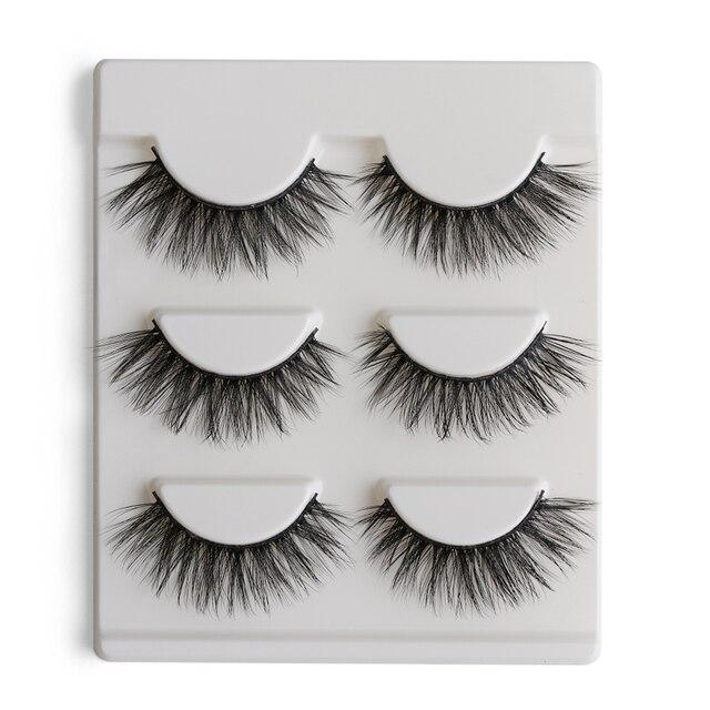 3 Pairs 3D Thick False Eyelashes Natural Make up Dense Multi-Layer Long Eye Lashes Extension Tools Beauty Makeup Cosmetics False Eyelashes