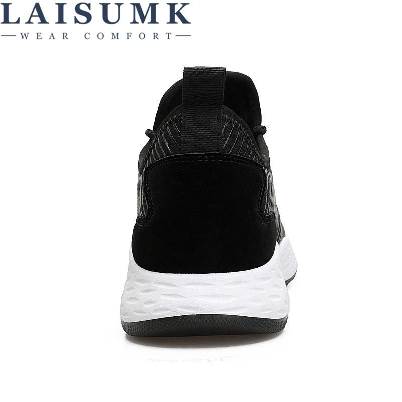 Casual Slipon Maille Mode 2019 Hommes Homme Noir gris Marche Chaussures À bleu Nouveau Laisumk Respirant Lacets D'été xqwAY74w