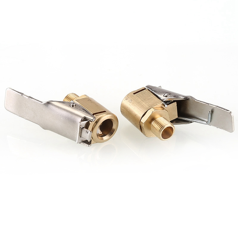 Car Truck Tire Tyre Inflator Valve Connector Clip On Air Straight Connector AS