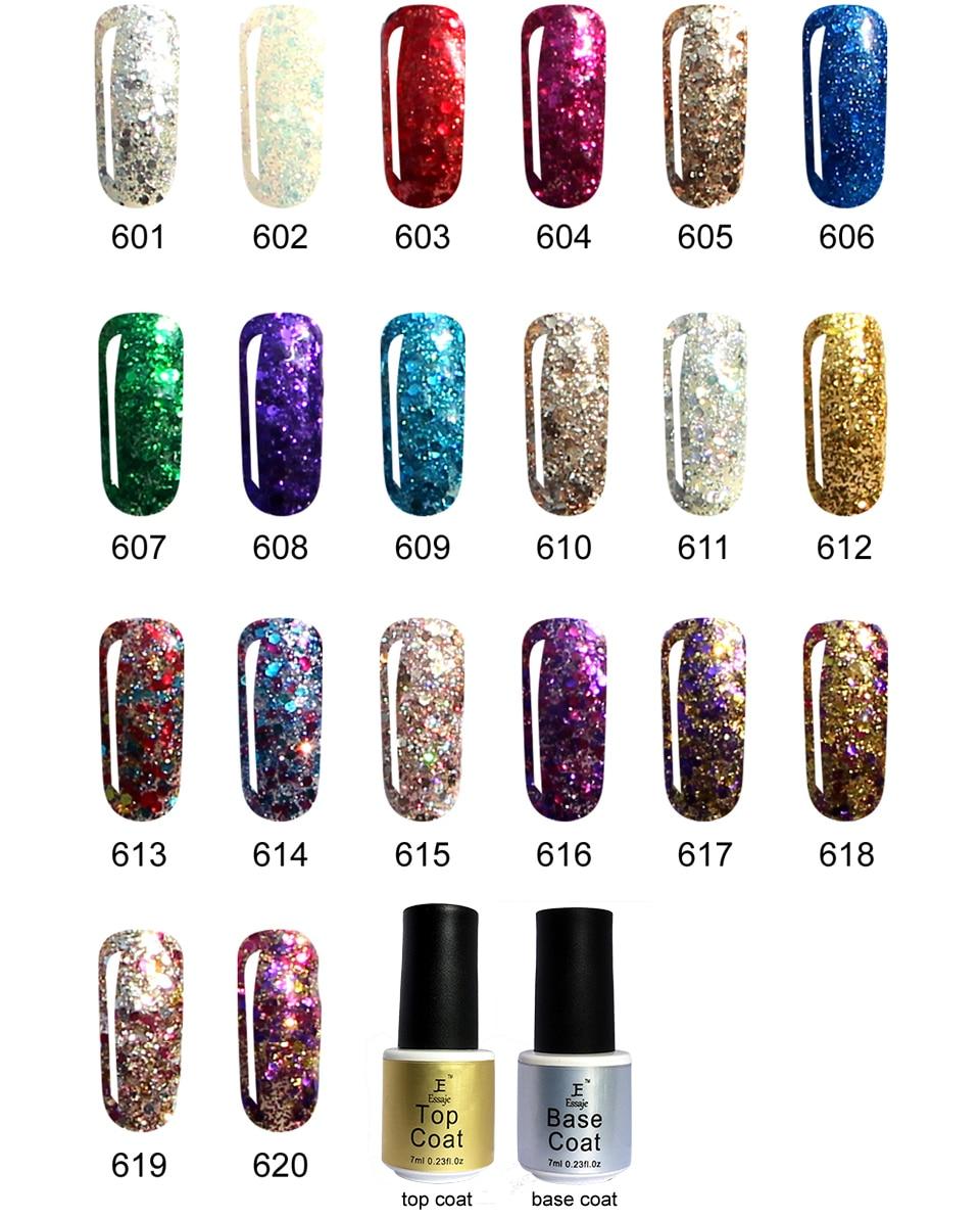 Essaje Shiny Diamant Gel Nagellack Bunte Glitter Gelpoliermittel UV ...
