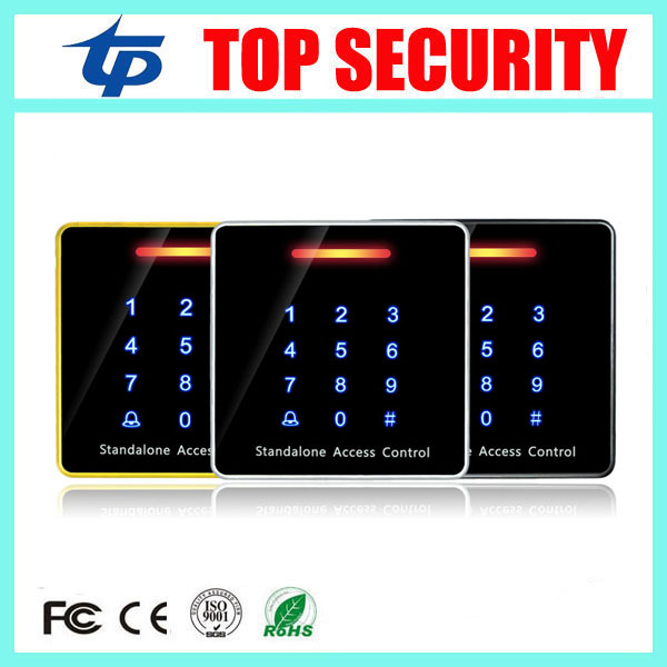 5pcs/lot single door access controller panel standalone 125khz RFID card access control reader touch keypad EM card reader good quality smart rfid card door access control reader touch waterproof keypad 125khz id card single door access controller