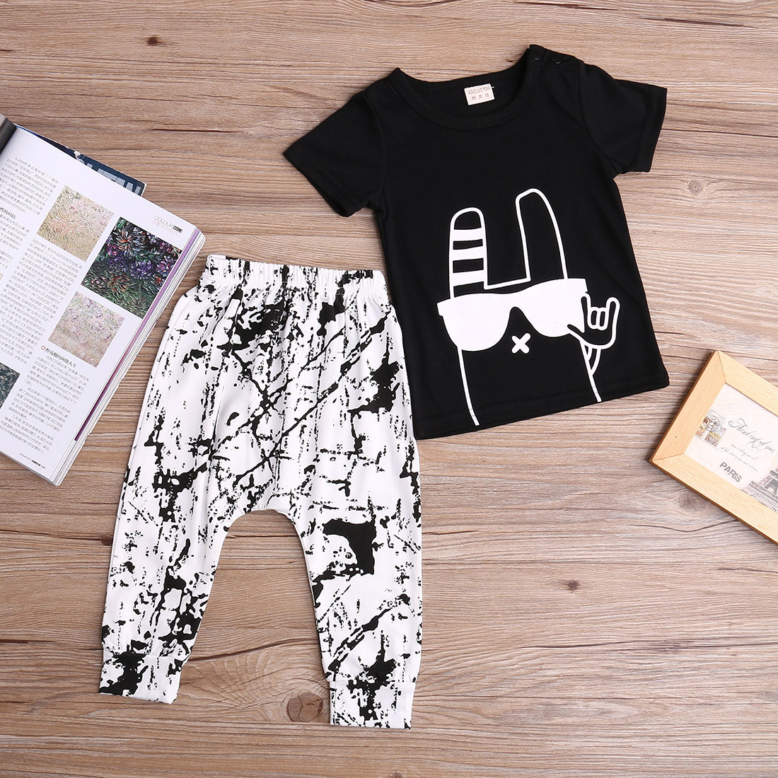 Clothes Sets T-shirt Tops + Pants Outfits Set Boy 2016 New Arriving Brand High Quality 2pcs Newborn Toddler Infant Kids Baby Boy