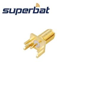 Image 2 - Superbat 10 قطعة SMA نهاية إطلاق جاك قاعدة لوحة دائرة مطبوعة واسعة شفة. 062 (1.57 مللي متر)