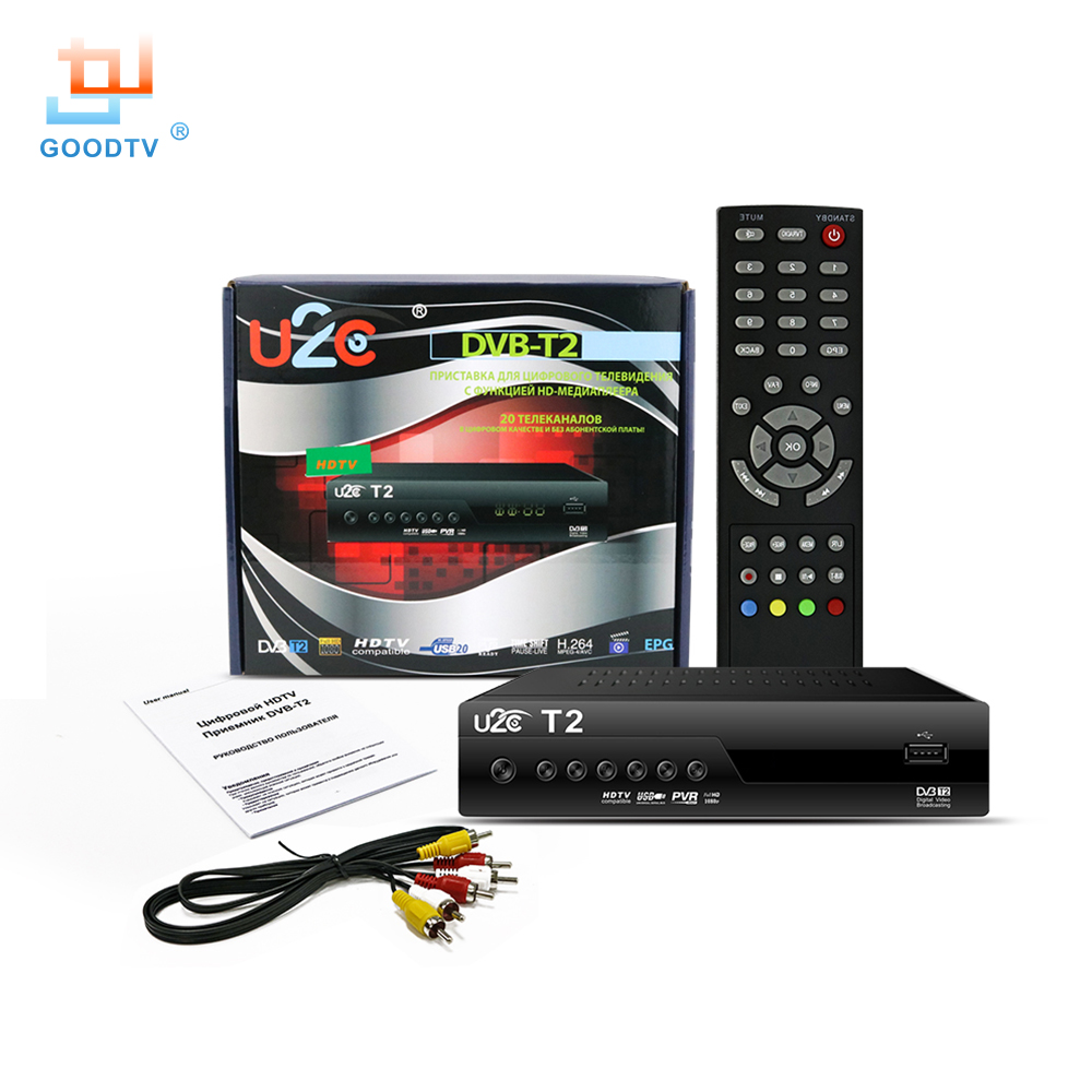 New U2C DVB T2 Smart TV Box DVB-T2 STB H.264 MPEG-4 HD 1080P 1080i TV Digital Terrestrial Receiver Media Player Television Set
