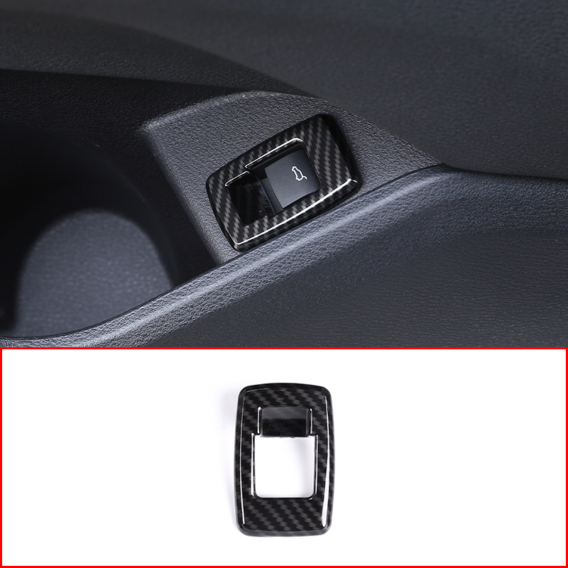 Carbon fiber For BMW X1 F48 20i 25i 25le 2016 2017 2018 ABS Chrome Interior Tail Door Swtich Frame Button Cover Car Accessories