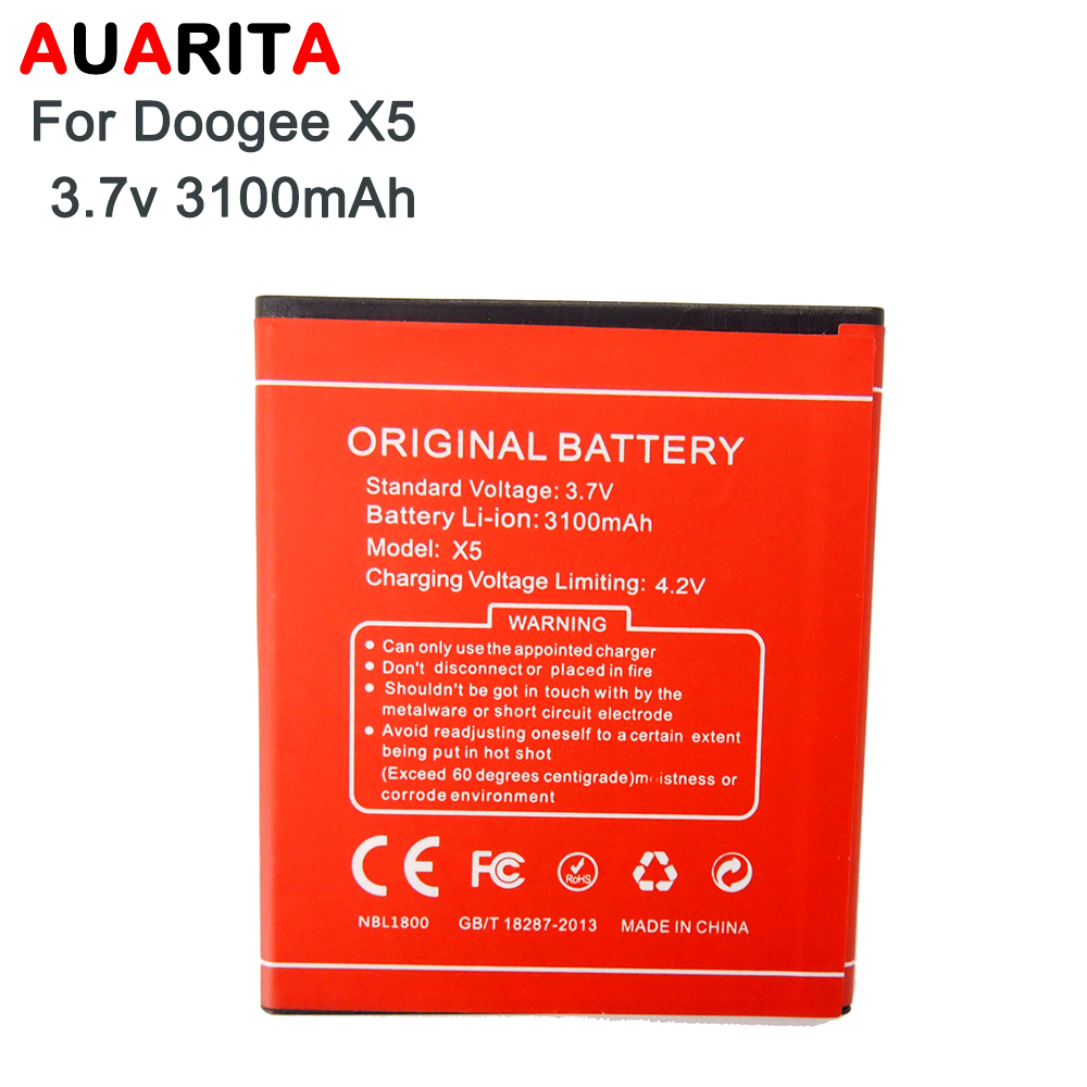 AAA quality battery 1pcs phone battery For Doogee X5 Battery Bateria For Doogee X 5 3100mAh replacement S/N YM0910X5000650