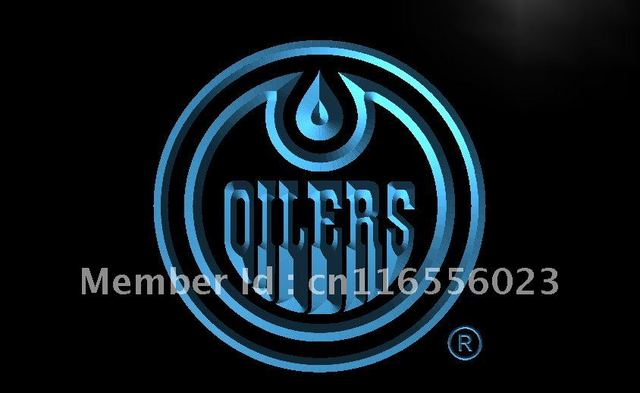 LD087  Edmonton Oilers Hockey Gift LED Neon Light Sign Home Decor Shop  Crafts