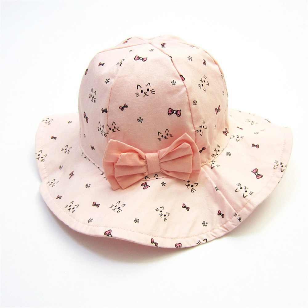 bcffab03 Girl's Sun Hat Baby Pink large Hat Flower Deco Kids Cap Spring Fashion  Summer Hat