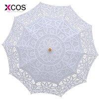 Fashion Sun Lace Umbrella Parasol Embroidery Bride Umbrella White Wedding Umbrella Ombrelle Dentelle Parapluie Mariage SA854