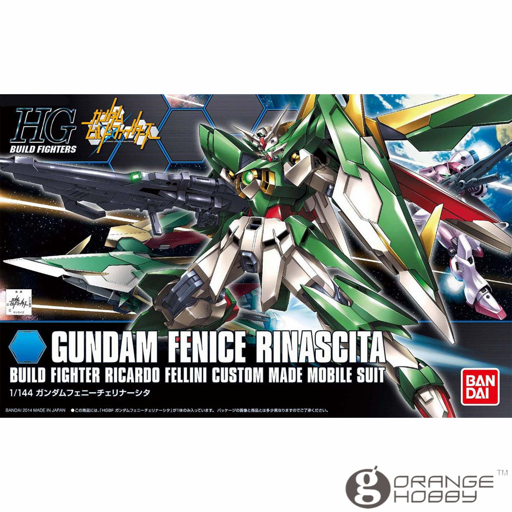 OHS Bandai HG Build Fighters 017 1/144 Gundam Fenice Rinascita Mobile Suit Assembly Model Kits