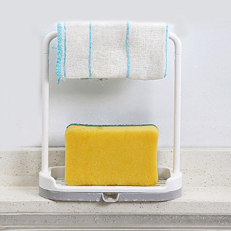 Us 2 84 43 Off 1 Piece Plastic Multifunctional Storage Rack Kitchen Rags Storage Rack Drain Rack Bathroom Towel Sponge Soap Storage Rack In