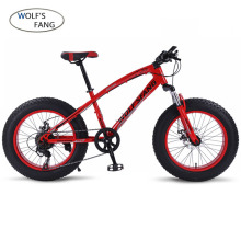 Bicycle Mountain bike 7/21 speed Fat Road Snow bikes 20*4.0 Front and Rear Mechanical Disc Brake New Free shipping