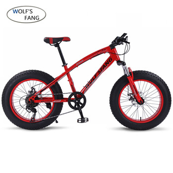 Bicycle Mountain bike 7/21 speed Fat Road Snow bikes 20*4.0 Front and Rear Mechanical Disc Brake New Free shipping Size 20 * 4.0
