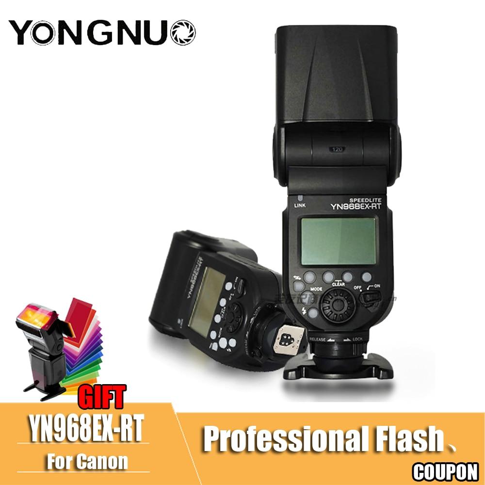 Yongnuo оригинальный YN968EX-RT YN968EX анти-бросок Беспроводная вспышка Speedlite TTL LED свет для камеры Canon, поддержка YN-E3-RT \ YN600EX