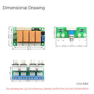 Image 4 - Relais CIRMECH entrée Audio 4 voies sélecteur de Signal commutation RCA entrée Audio carte de sélection de commutation rotative pour amplificateurs