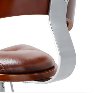 Wood bar stool rotating European retro fashion minimalist bar stool bar stool chair