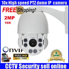 4.5″ IP Camera ONVIF 1080p Full HD 2MP Medium Speed Dome Cameras Security CCTV 10X ZOOM IR 50m Day/Night HD PTZ Camera Outdoor
