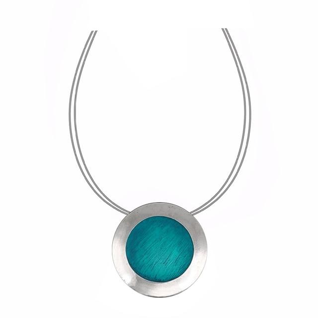 Top Quality Fashion Necklaces Necklace Set Blue Coffee Gray  Enamel Pendants 6