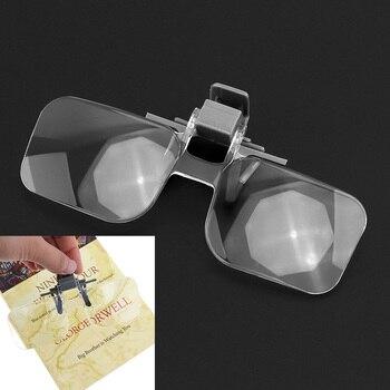 54196059a Lente acrílica ABS 2X Emocionante Óculos Lupa Portátil Lupa Lupa com Saco  Preto para a Leitura Colecionar selos