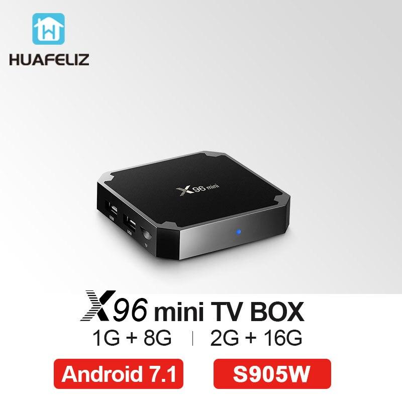 X96 mini android tv box Android 7,1 caja de tv inteligente 2 GB 16 GB Amlogic S905W Quad Core 2,4 GHz WIFI HD 2,0 Unidades top box 1 GB 8 GB X96mini